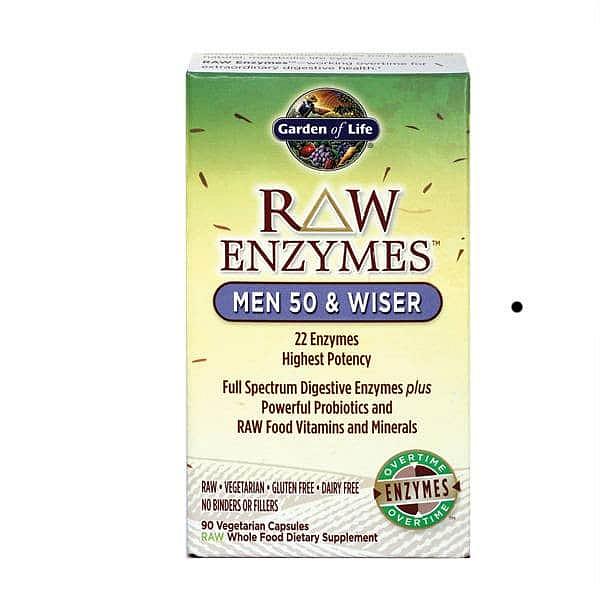 Garden of Life Raw Enzymy Men 50 Wiser pro muže 90 kapslí