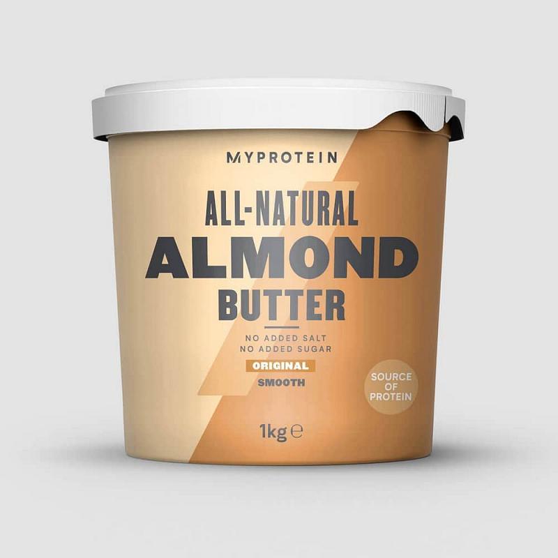 MyProtein Mandlové máslo Příchutě: Natural, Forma: Smooth - hladká konzistence, Hmotnost: 1000g