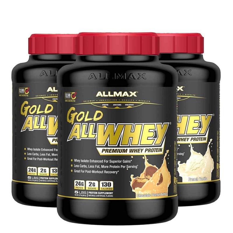 Allmax AllWhey Gold Protein Příchutě: Čokoláda, Hmotnost: 2250g