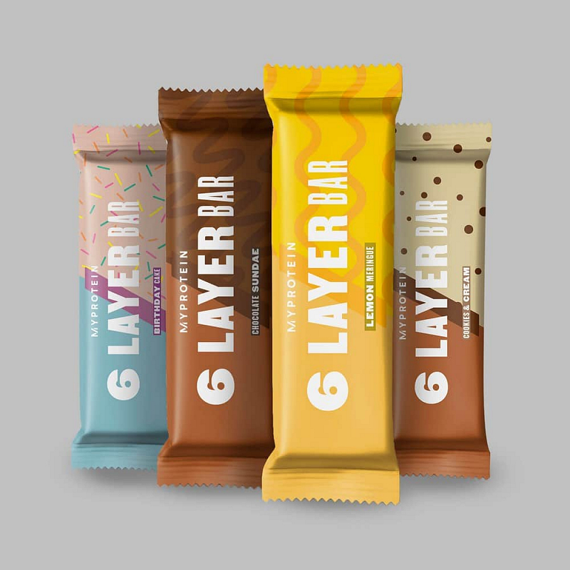 MyProtein 6 Layer Protein Bar Příchutě: Cookies and Cream, Hmotnost: 70g