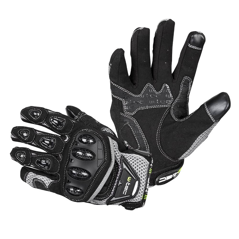 Levně Moto rukavice W-TEC Upgear Barva černá-fluo, Velikost 3XL