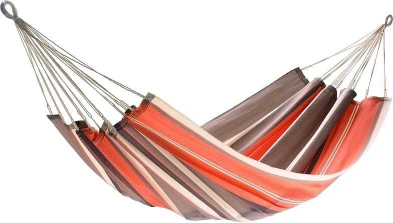 Houpací síť JOIA - oranžová, hnědá