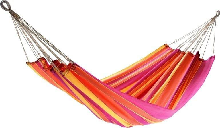 Houpací síť JOIA - proužky červené, oranžové a žluté