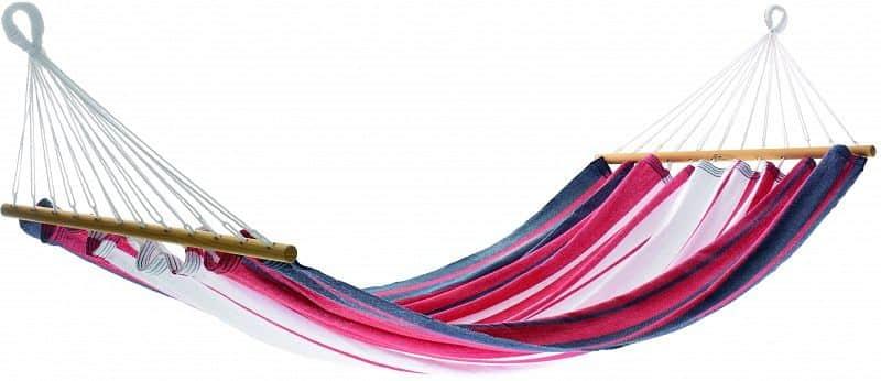 Houpací síť MISS BRASIL - proužky modré, červené a bílé