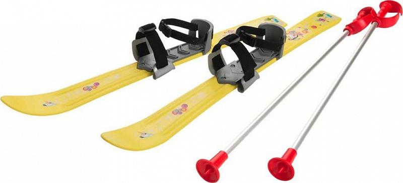 dětské mini lyže Baby Ski 70 cm plastové, s hůlkami barva: žlutá