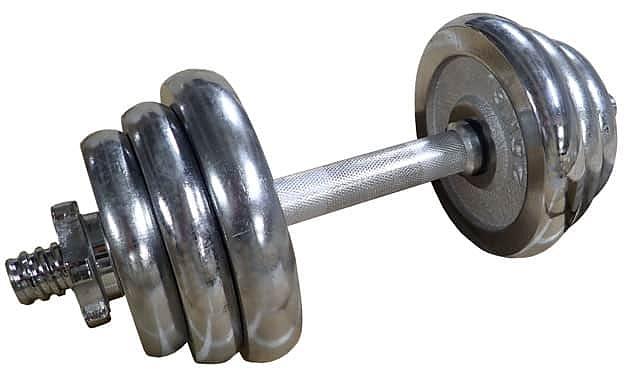 ACRA Činka nakládací, jednoruční, chromová 12 kg