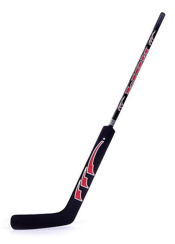 Brankářská hůl Lion 7744 - velikost 145 cm LION barva černá/červená - pravá