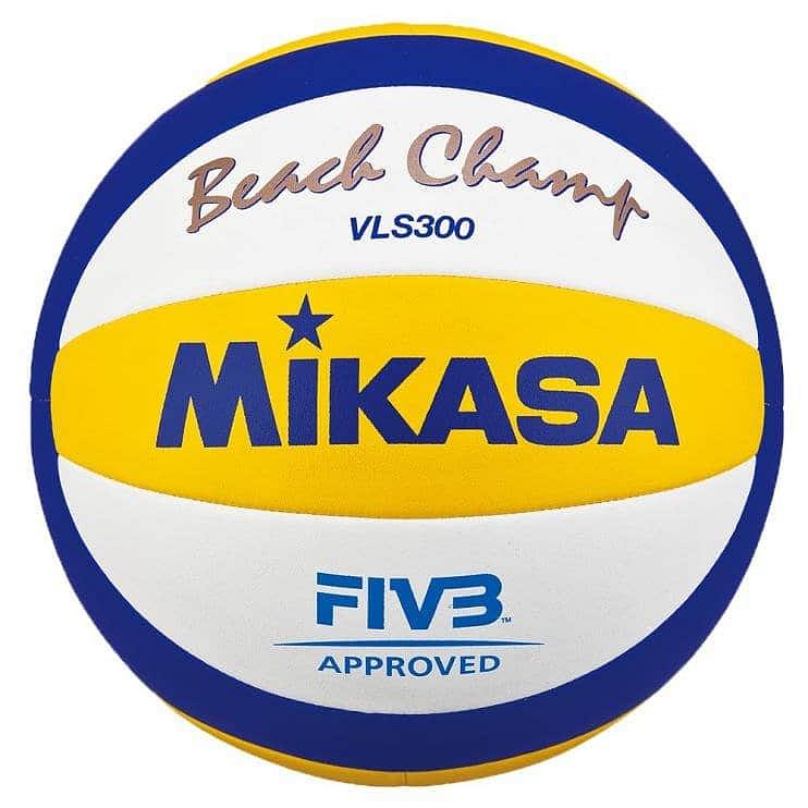 Míč BEACH volejbal MIKASA VLS300 -při větším množstsví cena dohodou - bílá/modrá/žlutá