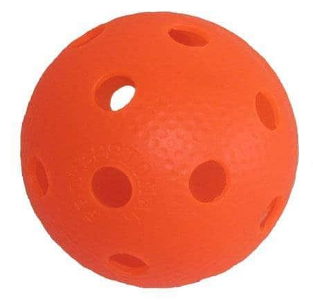 Florbalový míček PROFESSION barevný SPORT 2020 žlutý - oranžová