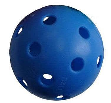 Florbalový míček PROFESSION barevný SPORT 2020 žlutý - modrá