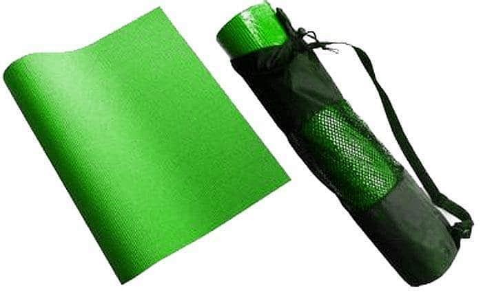 Karimatka na cvičení YOGA+obal SEDCO 4 mm 172x60x0,4cm - Fialová
