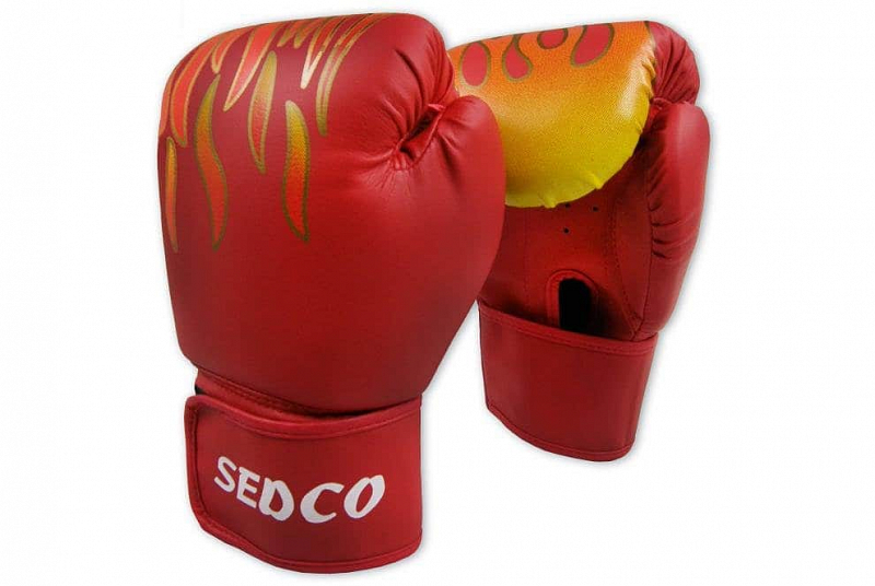Levně Box rukavice SEDCO TRAINING FIRE 14 OZ - Červená