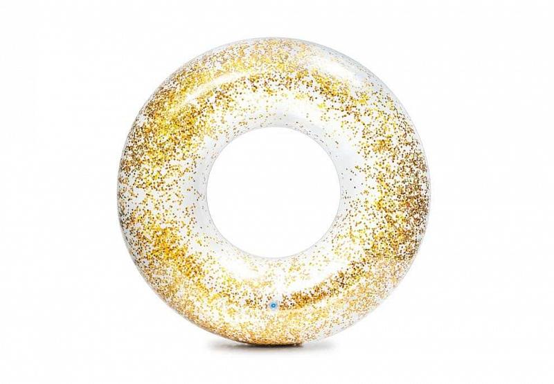 Nafukovací kruh INTEX 56274 Glitter 119 cm - Zlatá