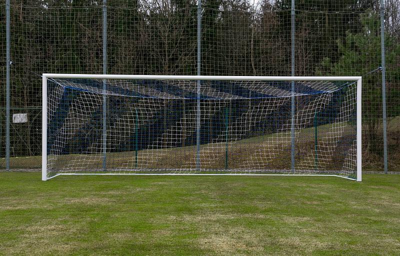 Match Dual fotbalová síť barva: modrá-bílá