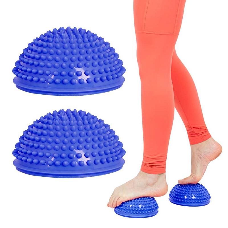 Balanční a masážní podložka na chodidla inSPORTline Uossia Barva modrá