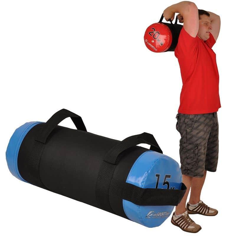 Posilovací vak s úchopy inSPORTline FitBag - 15 kg