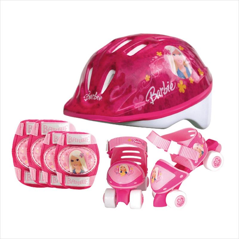 Barbie dievčenské kolieskové korčule a chrániče