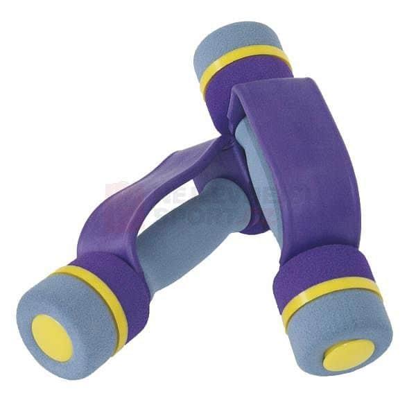 Sada činek aerobic s molitanovým potahem 2 x 1 kg