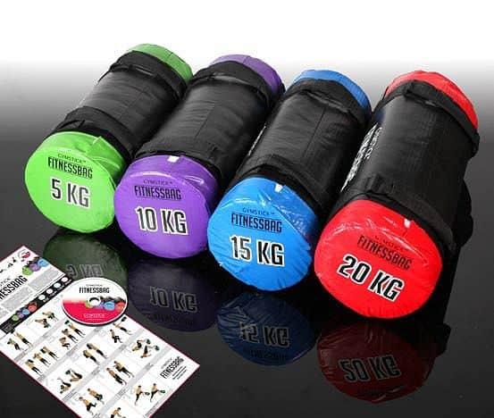 Gymstick Fitness Bag 20 kg červený + DVD