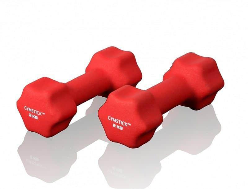 GYMSTICK Noprénové jednoručné činky 2 x 4 kg
