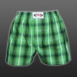 Styx trenýrky Classic zelená kostka + 1 pár ponožek zdarma