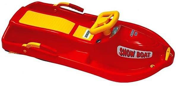 Boby řiditelné Snow Boat červená