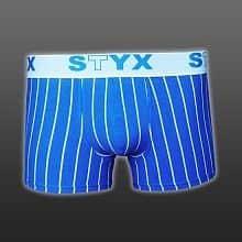 STYX trenírky- modrý pruh elastické SPORT