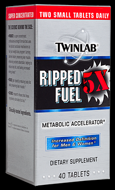 Twinlab Ripped Fuel 5X 40 tablet - VÝPRODEJ