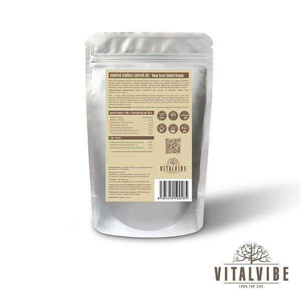 Konopná semienka BIO - 250 gramov