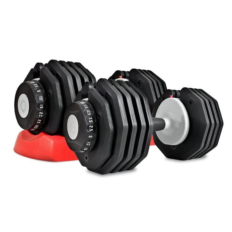 Nastavitelné činky Bodysolid 5 - 32,5kg 1 pár + stojan