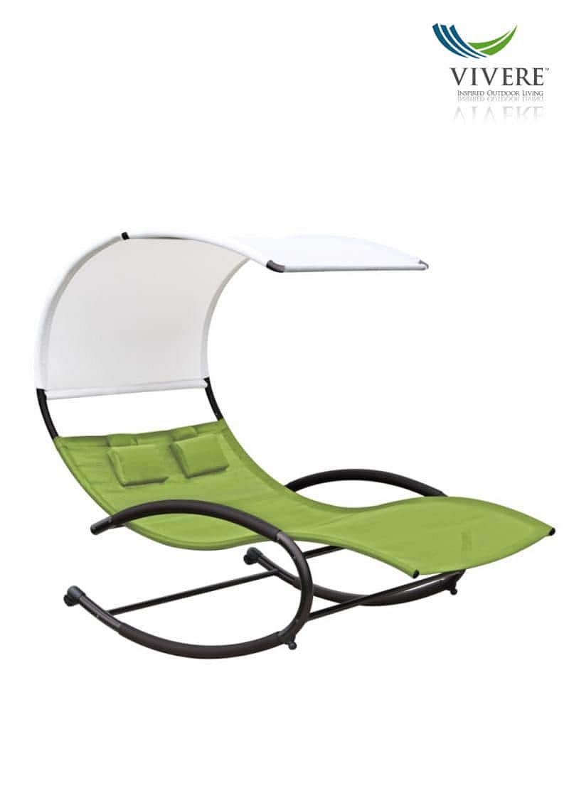 Vivere - Double Chaise Rocker # Green Apple
