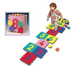 Dětská puzzle podložka Spartan SET 16 kusů